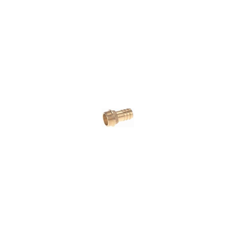 Raccord laiton cannelé embout mâle 4', cannelure Ø100