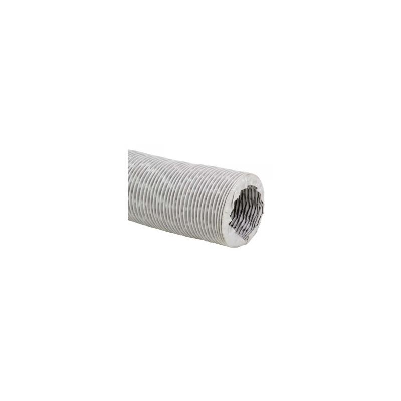 Gaine de ventilation en tissu fibre de verre revêtue de PVC Ø80