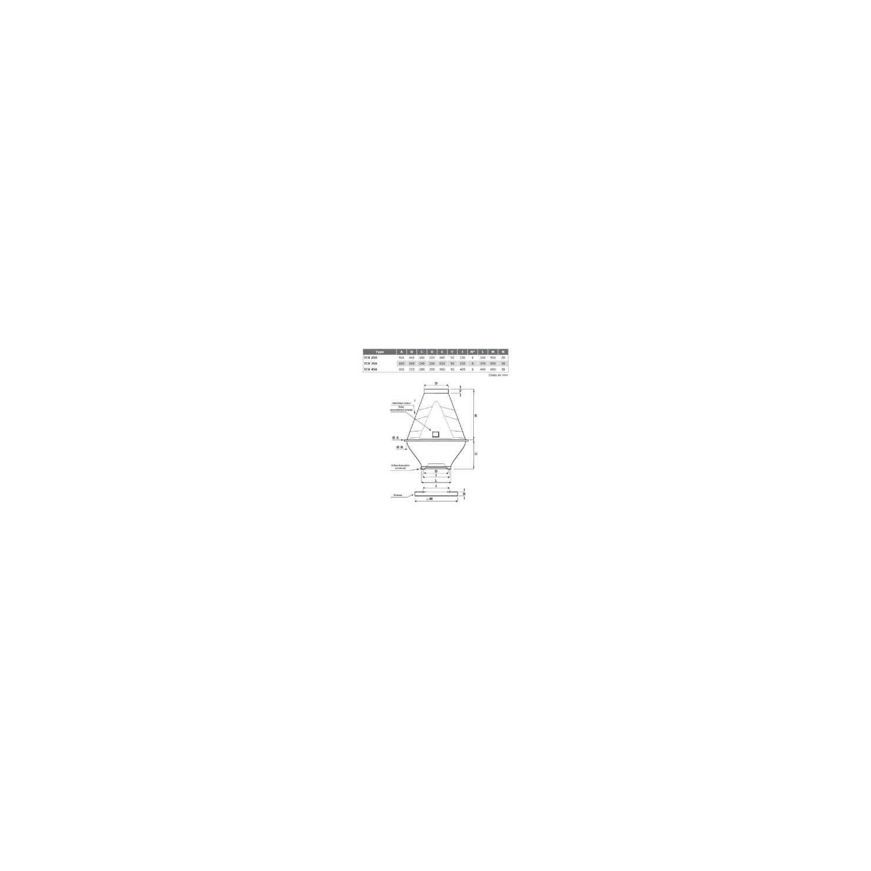 Tourelle toiture centrifuge à jet vertical en polypropylène Ø35M2